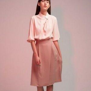 Genuine People Wrap Kimono Midi Dress